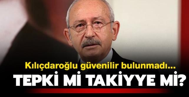 """CHP Genel Başkanı güvenilir bulunmadı... Tepki mi takiyye mi"""""""