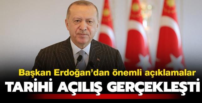 """Başkan Erdoğan: """"2021 yılı her alanda şahlanış yılı olacak"""""""