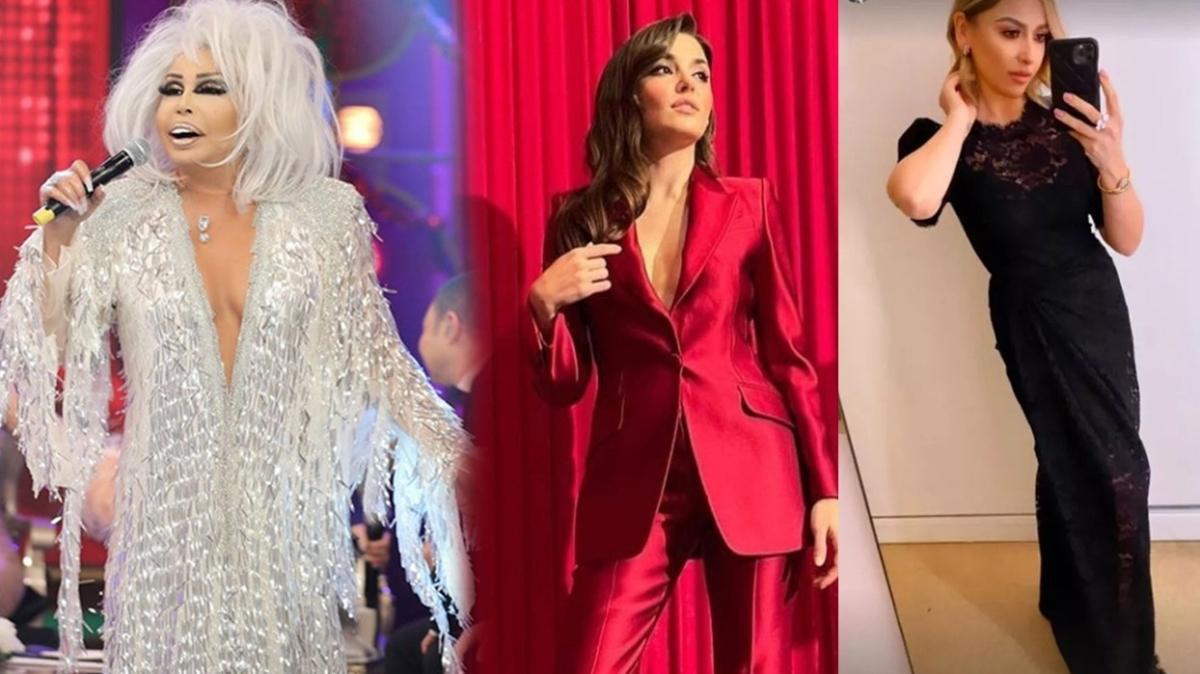 Hande Erçel ve Hadise'nin kıyafeti çok konuşuldu! İşte 2021'in en şık ünlüleri