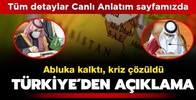 Canlı Anlatım - El Ula Deklarasyonu imzalandı: 3,5 yıllık ambargo sona erdi: Türkiye'den ilk açıklama