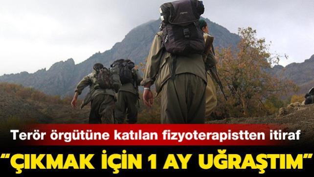 """PKK'lı fizyoterapistten itiraf: """"Çıkmak için 1 ay uğraştım"""""""