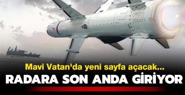 Radara son anda giriyor... Mavi Vatan'da yeni sayfa açacak Türk füzesi