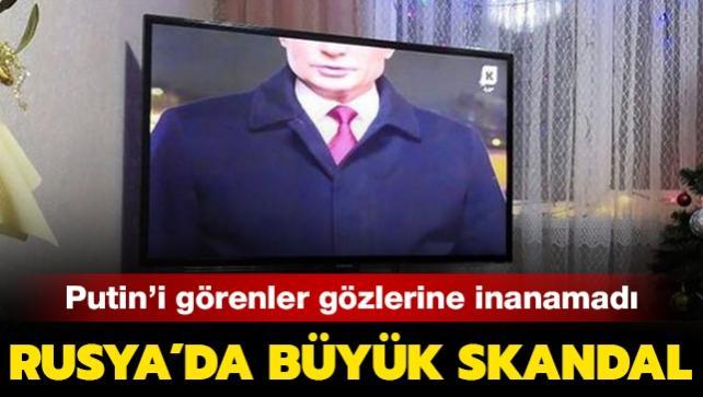 Rusya'da büyük skandal! Putin'i televizyonda görenler gözlerine inanamadı...