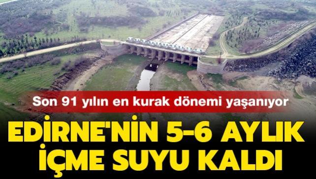 Son 91 yılın en kurak dönemi yaşanıyor: Kuraklık yaşanan Edirne'nin 5-6 aylık içme suyu kaldı