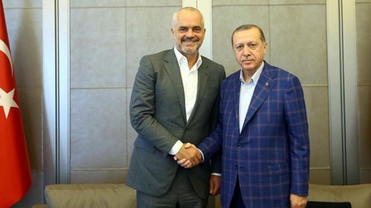 Arnavutluk Cumhuriyeti Başbakanı Rama Başkan Erdoğan'ın davetiyle Türkiye'de