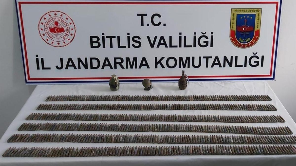 Bitlis'te terör örgütü PKK'ya ait çok sayıda mühimmat ele geçirildi