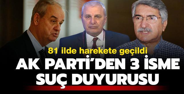 AK Parti'den Başbuğ, Ataklı ve Sağlar'a suç duyurusu