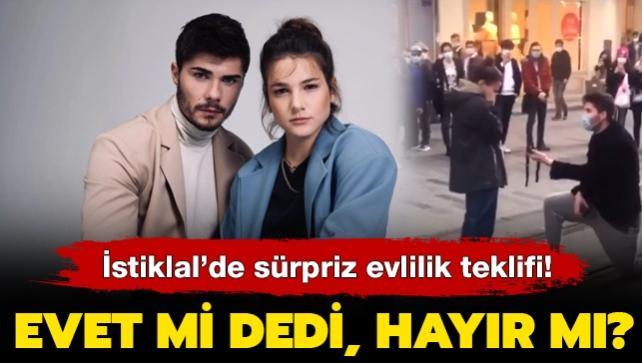 Survivor yarışmacısı Barış Murat Yağcı'dan Nisa Bölükbaşı'na İstiklal'de sürpriz evlilik teklifi!
