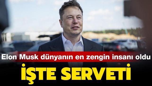 188,5 milyar dolarlık servetiyle Elon Musk, dünyanın en zengin insanı oldu