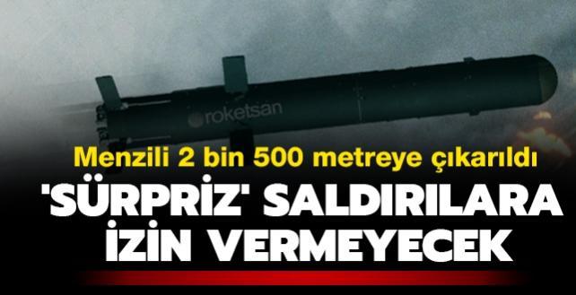 Menzili 2 bin 500 metreye çıkarıldı: KARAOK 'sürpriz' saldırılara izin vermeyecek