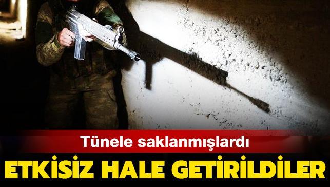 Son dakika haberi: 8 PKK/YPG'li terörist saklandıkları tünelde etkisiz hale getirildi