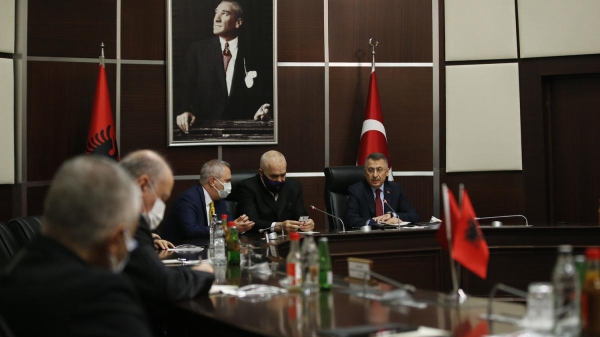 Cumhurbaşkanı Yardımcısı Fuat Oktay ve Rama'dan SSB'ye ziyaret