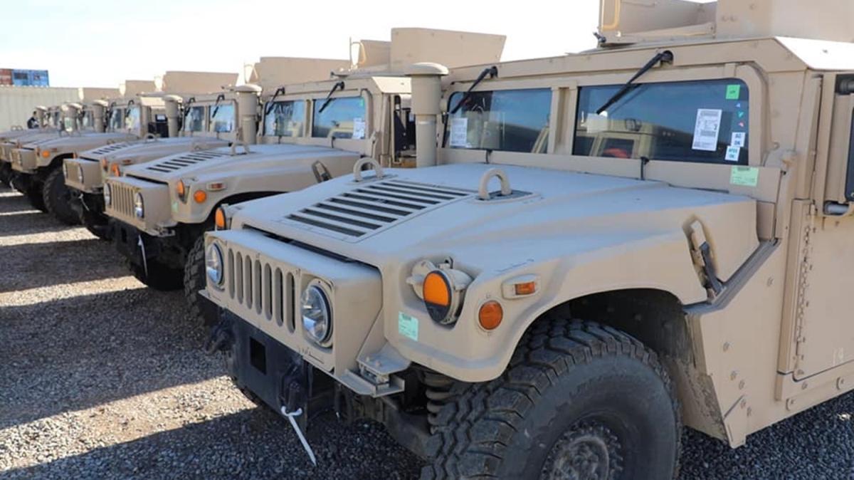 ABD'den Peşmerge güçlerine askeri araç yardımı