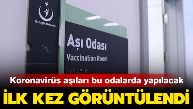 İlk kez görüntülendi! Koronavirüs aşıları bu odalarda yapılacak...