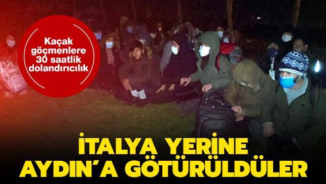 Kaçak göçmenlere 30 saatlik dolandırıcılık... İtalya yerine Aydın'a götürüldüler