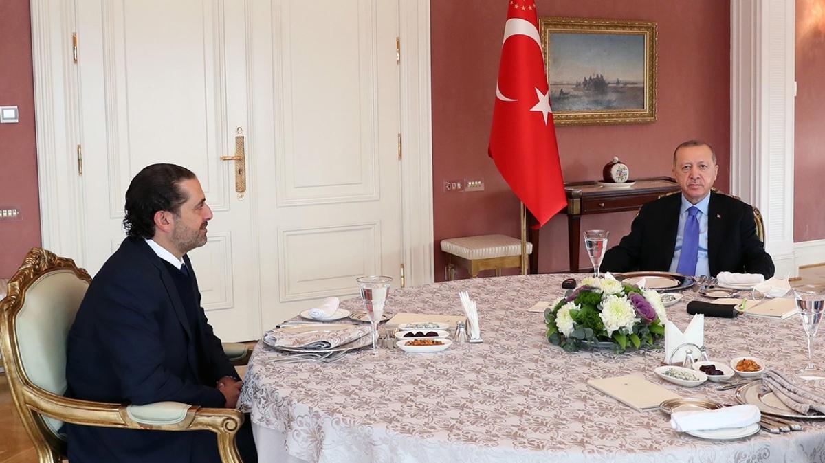 Başkan Erdoğan, Lübnan eski Başbakanı Hariri'yi kabul etti