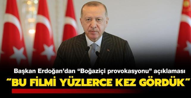 """Başkan Erdoğan'dan """"Boğaziçi provokasyonu"""" açıklaması: """"Terör bağlantılı eylemin fikir özgürlüğüyle alakası yok"""""""