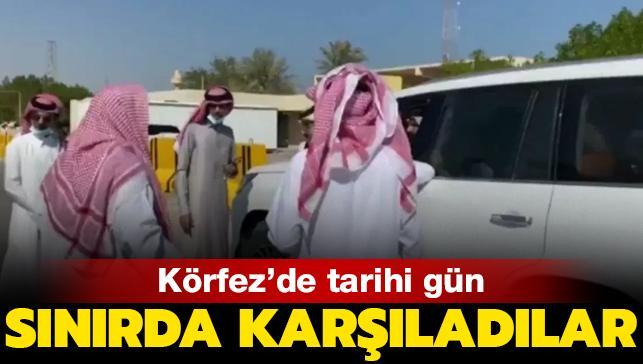 Körfez'de tarihi gün! Suudi Arabistan, Katarlıları sınır kapısında karşıladı