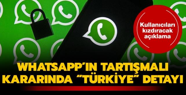 """WhatsApp'ın tartışmalı kararında """"Türkiye"""" detayı... Kullanıcıları kızdıracak açıklama"""