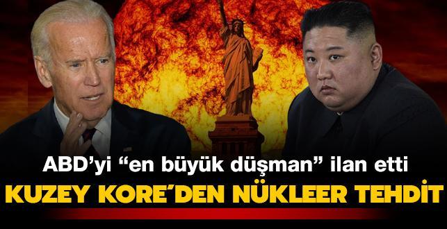 """Kuzey Kore'den nükleer tehdit... ABD'yi """"en büyük düşman"""" ilan etti"""
