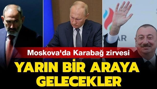 Rusya lideri Putin, Aliyev ve Paşinyan ile yarın Moskova bir araya gelecek