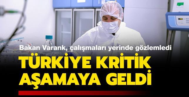 Sanayi ve Teknoloji Bakanı Varank aşı çalışmalarını yerinde inceledi: Türkiye kritik aşamaya geldi