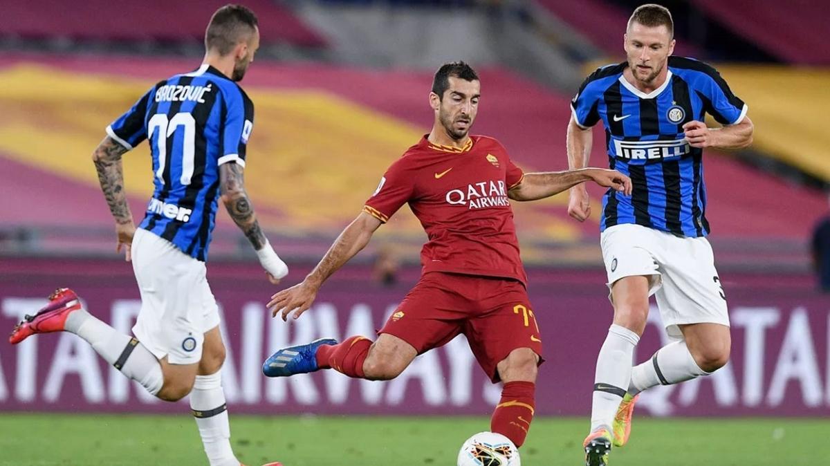 Roma ile Inter gol düellosunda yenişemedi