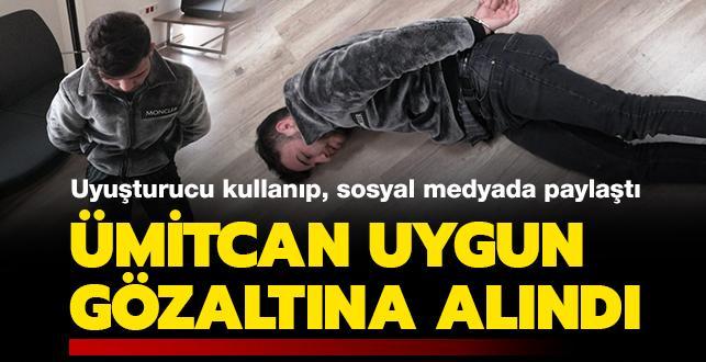 Uyuşturucu kullanırken çekilen görüntüleri sosyal medyada paylaşılan Aleyna Çakır davasının şüphelisi Ümitcan Uygun gözaltına alındı