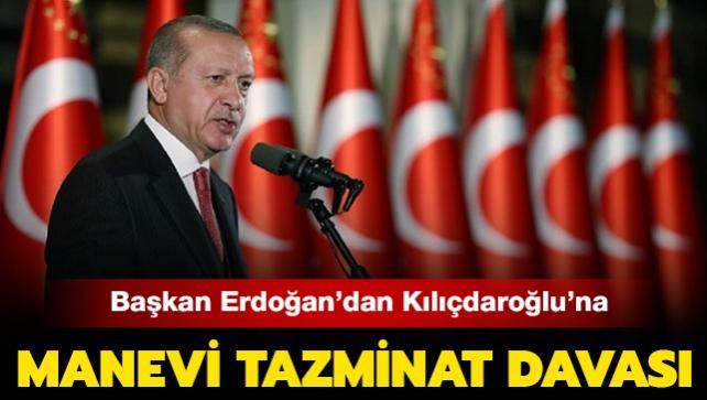 """Son Dakika: Başkan Erdoğan, """"sözde cumhurbaşkanı"""" ifadesi nedeniyle Kılıçdaroğlu'na manevi tazminat davası açtı"""