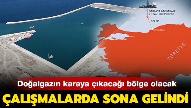 Doğalgazın karaya çıkacağı bölge olacak: Filyos Limanı'ndaki çalışmalarda sona gelindi