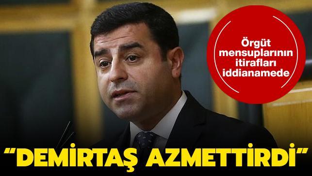 """Kobani eylemlerinde yer alanlar """"azmettirici"""" olarak Demirtaş'ı işaret etti"""