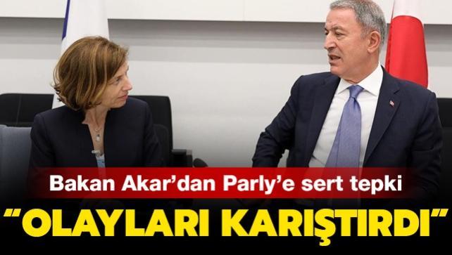 Son dakika haberi: Bakan Akar'dan Fransız mevkidaşı Parly'nin Türkiye açıklamasına sert tepki
