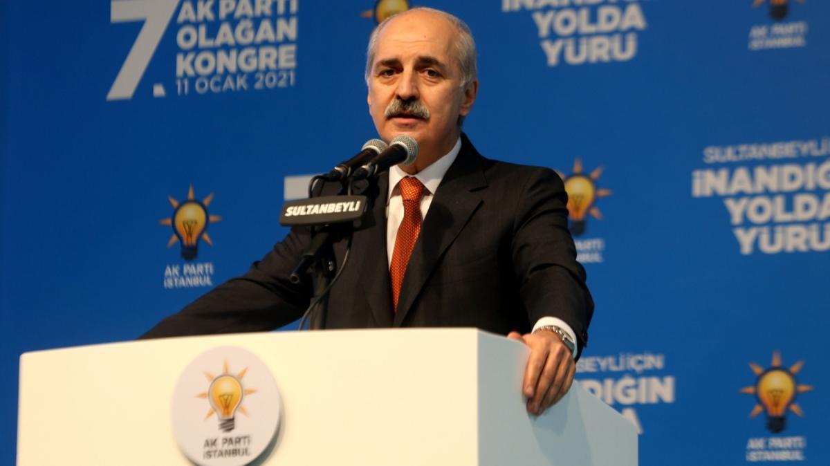 AK Parti Genel Başkanvekili Kurtulmuş, partisinin Çekmeköy 5. Olağan İlçe Kongresi'nde konuştu