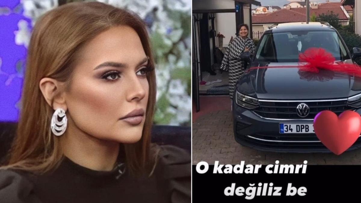 Demet Akalın annesine hediye ettiği arabayı kullanıyor iddialarına fotoğraflarla yanıt verdi! 'O kadar cimri değiliz'