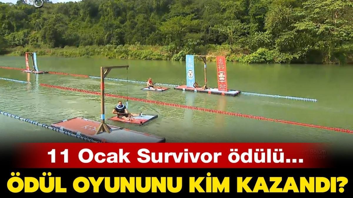 """Survivor ödül oyununu dün akşam kim kazandı"""" 11 Ocak Survivor ödülü ne"""""""