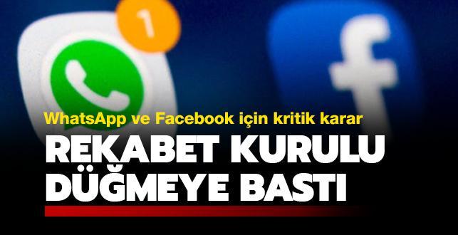 WhatsApp ve Facebook'a soruşturma