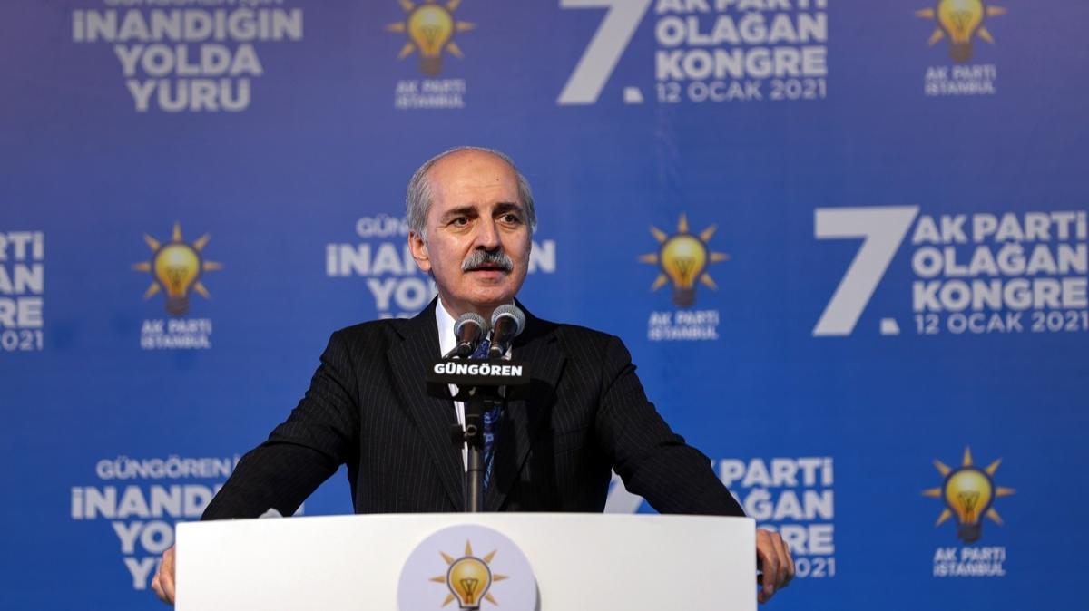 Numan Kurtulmuş, AK Parti Güngören 7. Olağan İlçe Kongresi'nde konuştu