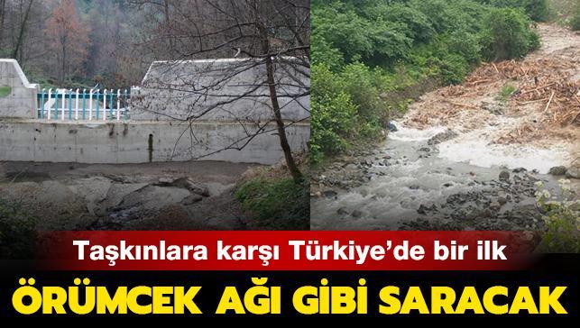 Taşkınlara karşı Türkiye'de bir ilk! Örümcek ağı gibi saracak...