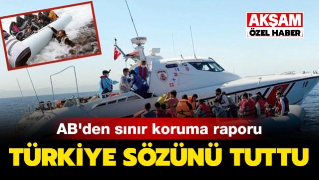 AB'den sınır koruma raporu! Kaçak sığınmacıları en iyi Türkiye önledi