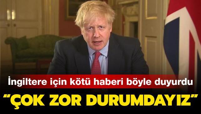İngiltere Başbakanı Johnson: Çok zor durumdayız