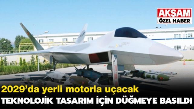Milli uçağın motoruna '3D' tasarım