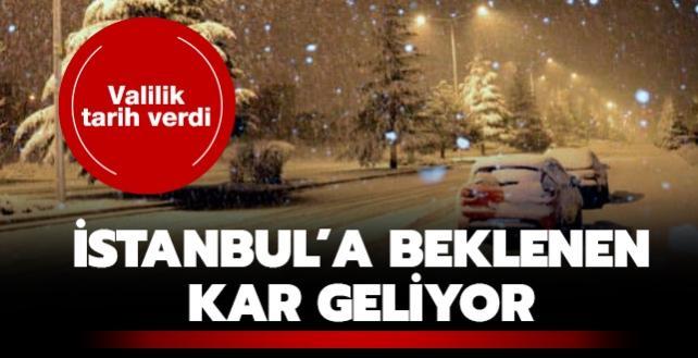 Valilik tarih verdi: İstanbul'a beklenen kar geliyor