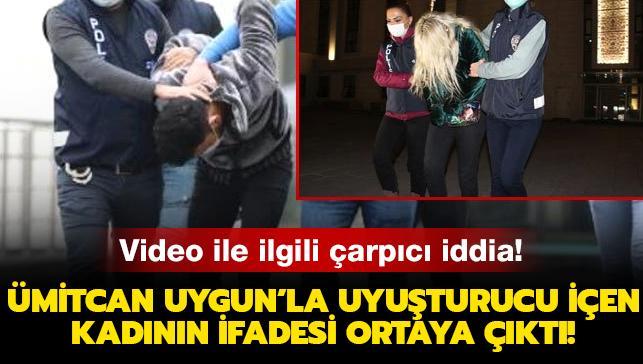 Video ile ilgili çarpıcı iddia! Ümitcan Uygun'la uyuşturucu içen kadının ifadesi ortaya çıktı