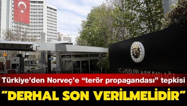 """Türkiye'den Norveç'e """"terör propagandası"""" tepkisi: Derhal son verilmelidir"""