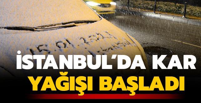 Son dakika haberi: İstanbul'da kar yağışı başladı: Yüksek kesimler beyaza büründü