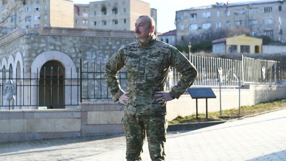 Aliyev'in Şuşa ziyaretinde Başkan Erdoğan detayı: 'İki kardeş'
