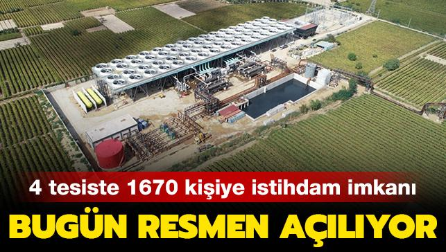 Bugün resmen açılıyor: Manisa'daki 4 enerji santralinde 1670 kişiye istihdam imkanı