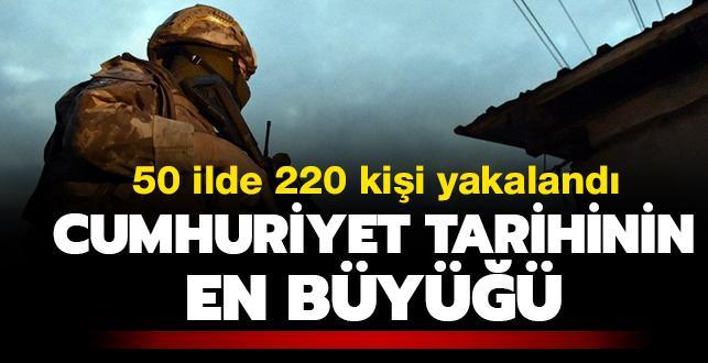 Cumhuriyet tarihinin en büyük 'akaryakıta bağlı vergi kaçakçılığı' operasyonu! 220 kişi yakalandı