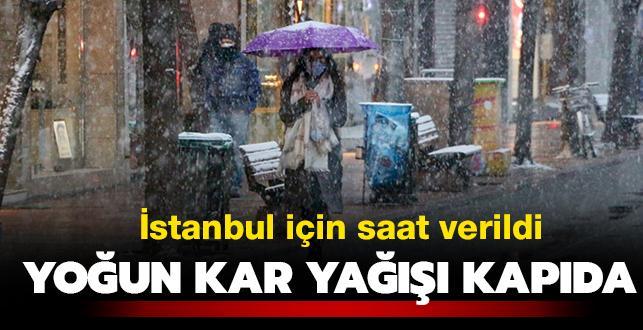 Donacağız! Meteoroloji saat verdi: İstanbul'da yoğun kar yağışı kapıda...