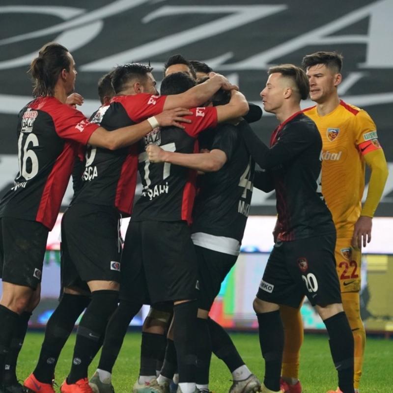 Gaziantep FK sahasında Kayserispor'u 2-1 mağlup etti